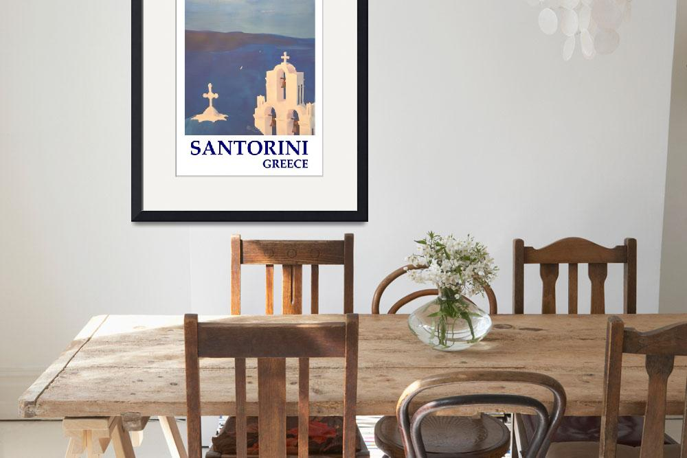 """""""Santorini, Greece - View from Oia - Retro Vintage&quot  (2015) by arthop77"""