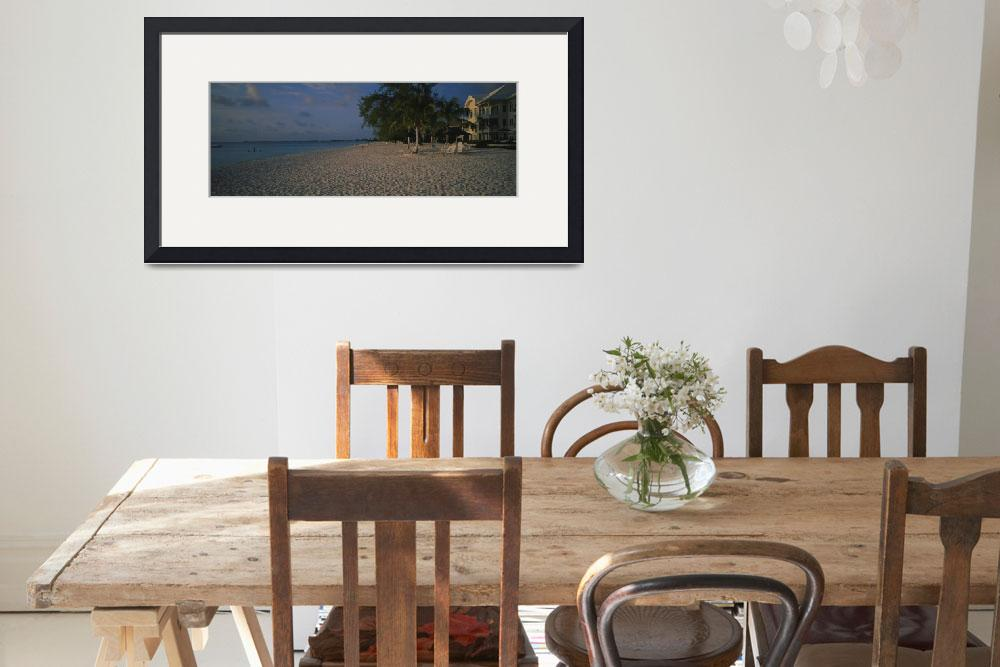"""""""Palm trees and apartments on the beach&quot  by Panoramic_Images"""