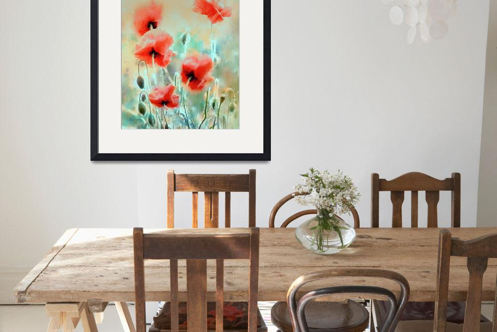 """""""morning poppies&quot  (2011) by rosalin"""