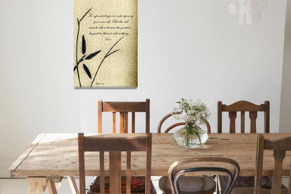 """Zen Sumi 4m Antique Motivational Flower Ink&quot  (2011) by Ricardos"