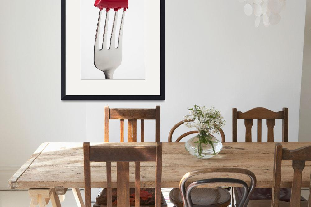 """""""Red Lipstick On Fork""""  (2013) by photogarry"""