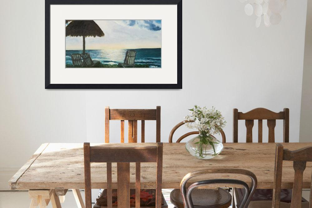 """""""Morning Meditation Cancun 10x20 on canvas panel""""  by ArtbyGenell"""
