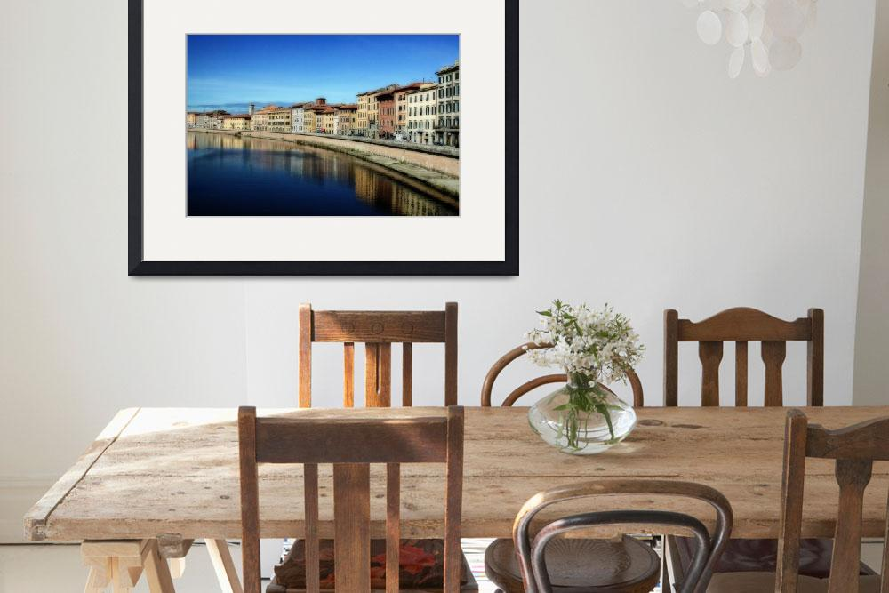 """""""River Arno, Pisa, Tuscany&quot  (2003) by JohnEdwards"""