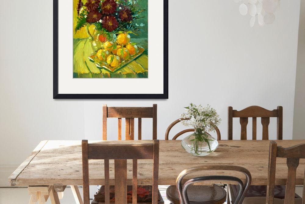 """""""Chrysanthemums and Tangerines&quot  by RobertLewis"""