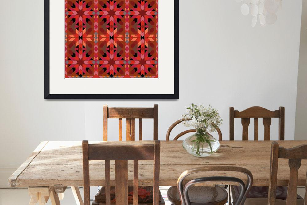 """Morocco 1 red orange black&quot  (2009) by LeslieTillmann"