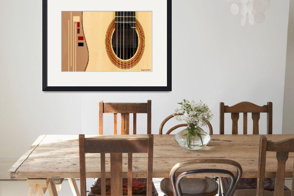 """Classical Guitar Fantasy&quot  (2014) by Boghratimagekindartdesign"