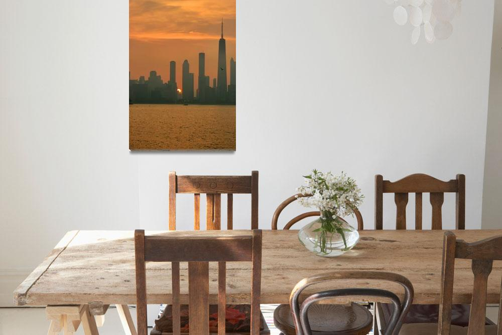"""""""Chicago Skyline&quot  (2008) by harkness_john"""