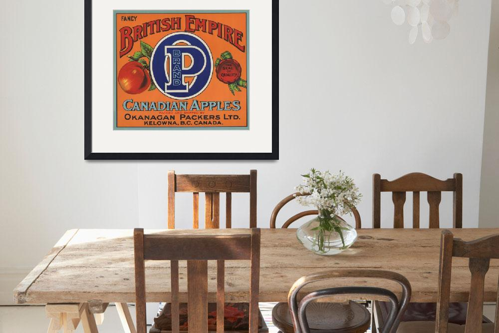 """""""British Empire Fruit Crate Label&quot  by LABELSTONE"""