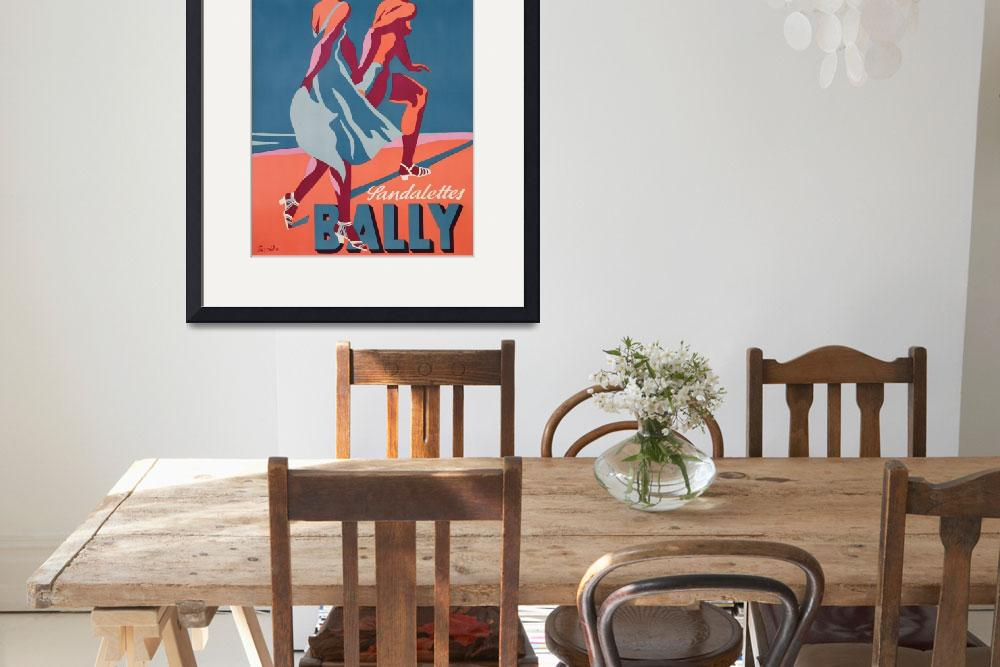 """""""Advertisement for Bally sandals, 1935&quot  by fineartmasters"""