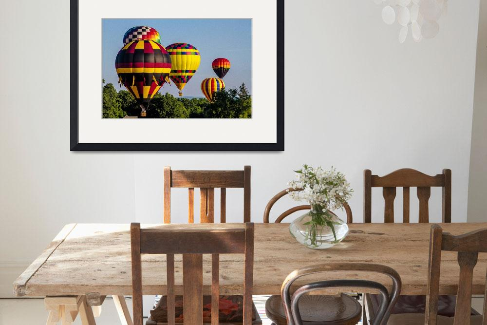 """""""Hot Air Balloons Fill the Sky&quot  (2011) by pixelcene"""