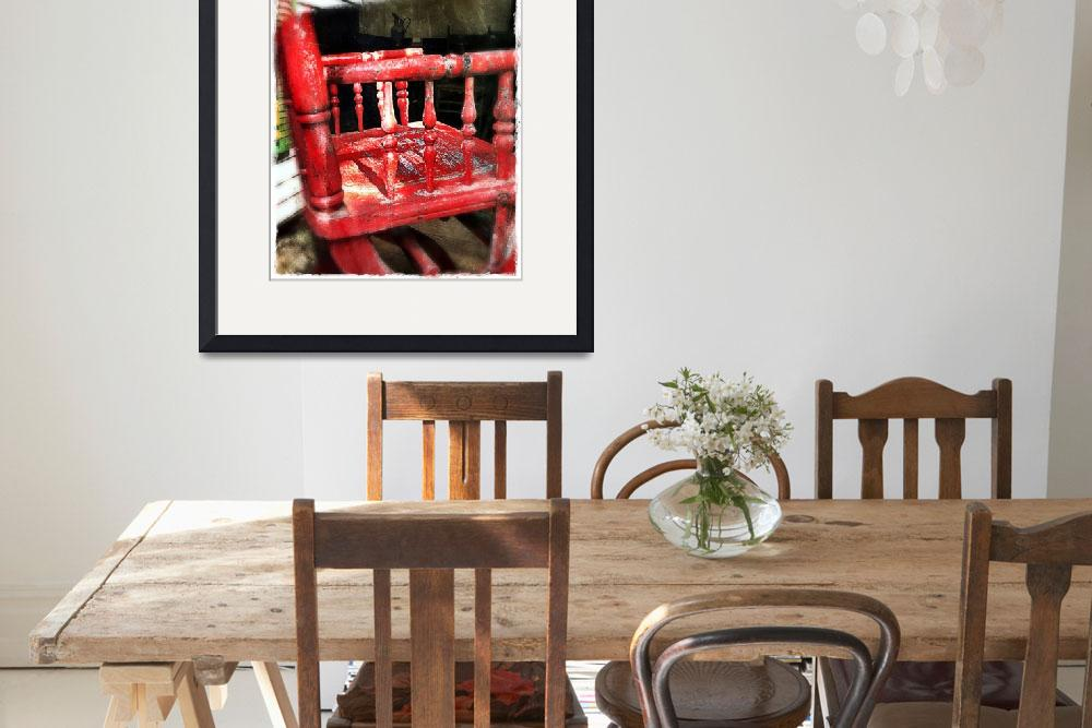 """Red High Chair""  (2012) by barbee"