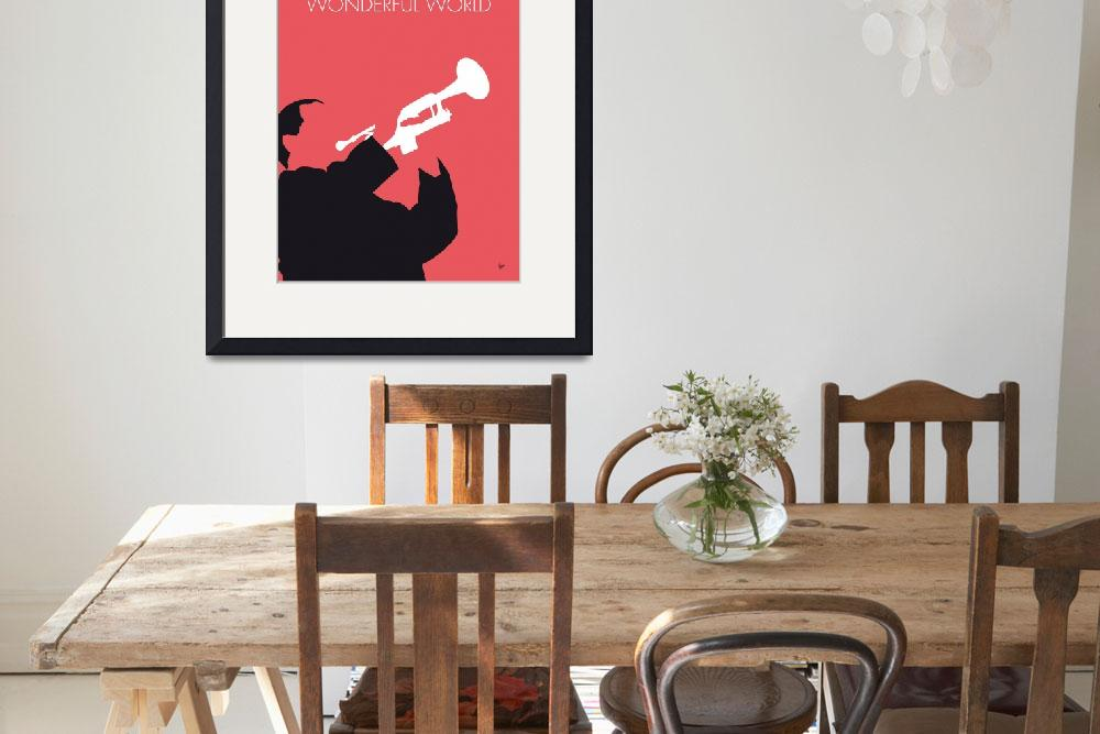 """No012 MY LOUIS ARMSTRONG Minimal Music poster""  by Chungkong"