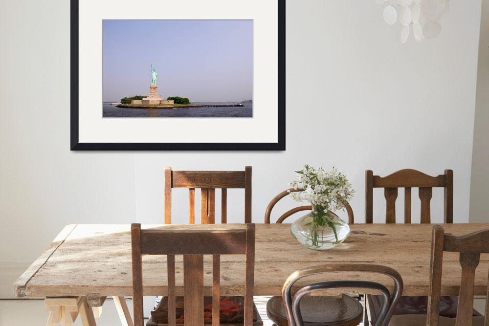 """""""Liberty Island & The Statue of Liberty&quot  (2003) by fineartphoto"""