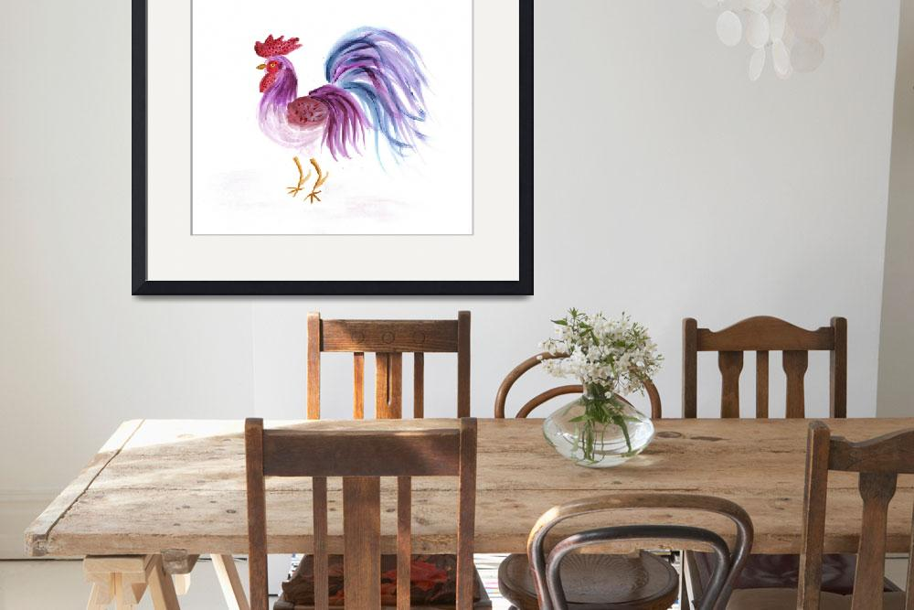 """""""Pastle Rooster&quot  (2002) by EelKat"""