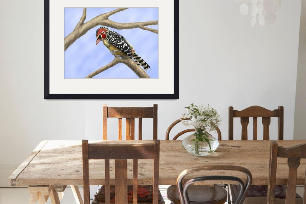 """""""Red and Yellow Barbet&quot  (2010) by Aiwenore"""