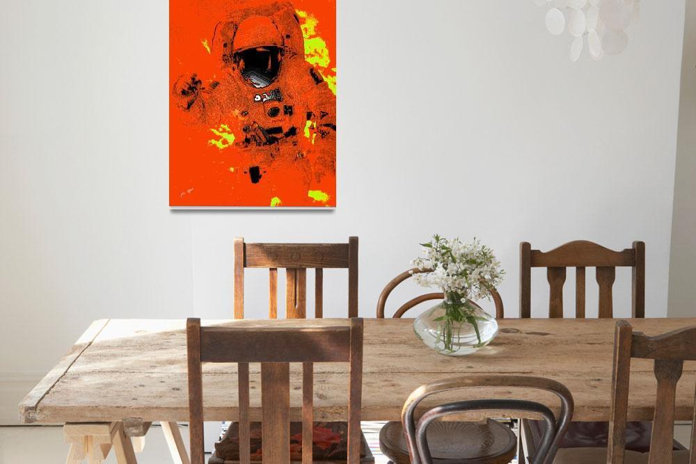 """Plastic Astronaut in Orange""  (2008) by TrayMead"