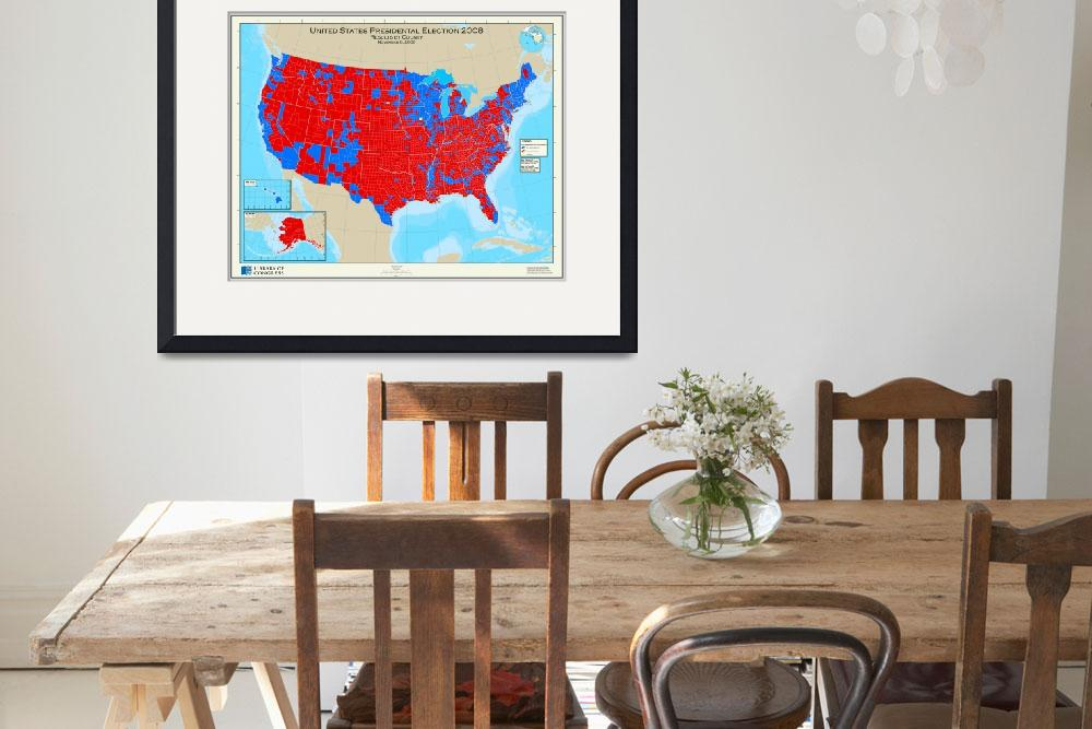 """""""United States Presidential Election, results by co&quot  (2008) by ArtHistory"""