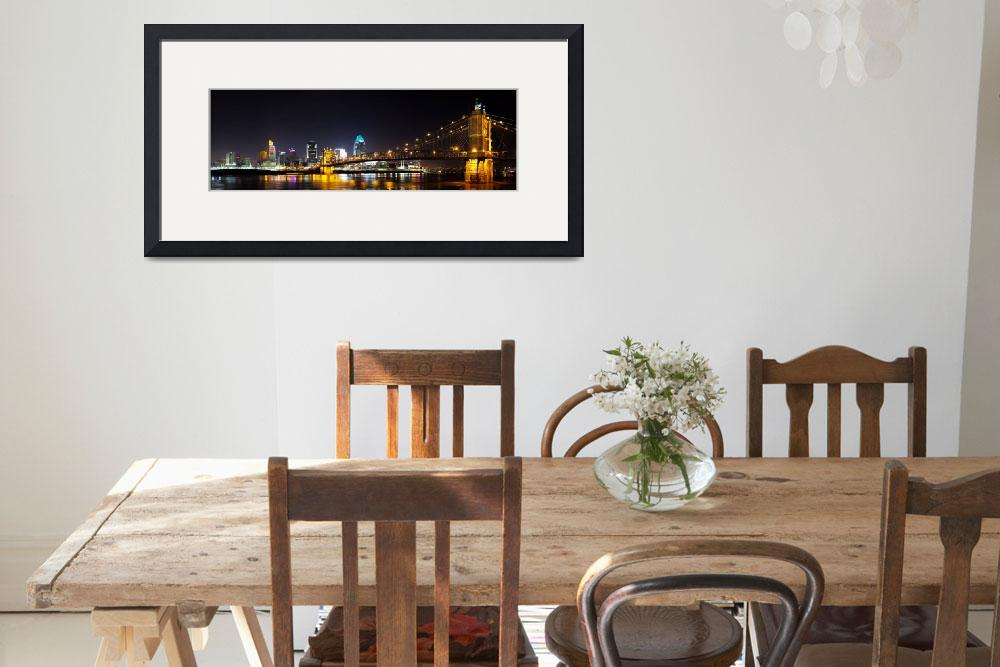 """Cincinnati, Ohio Skyline at Night&quot  by North22Gallery"