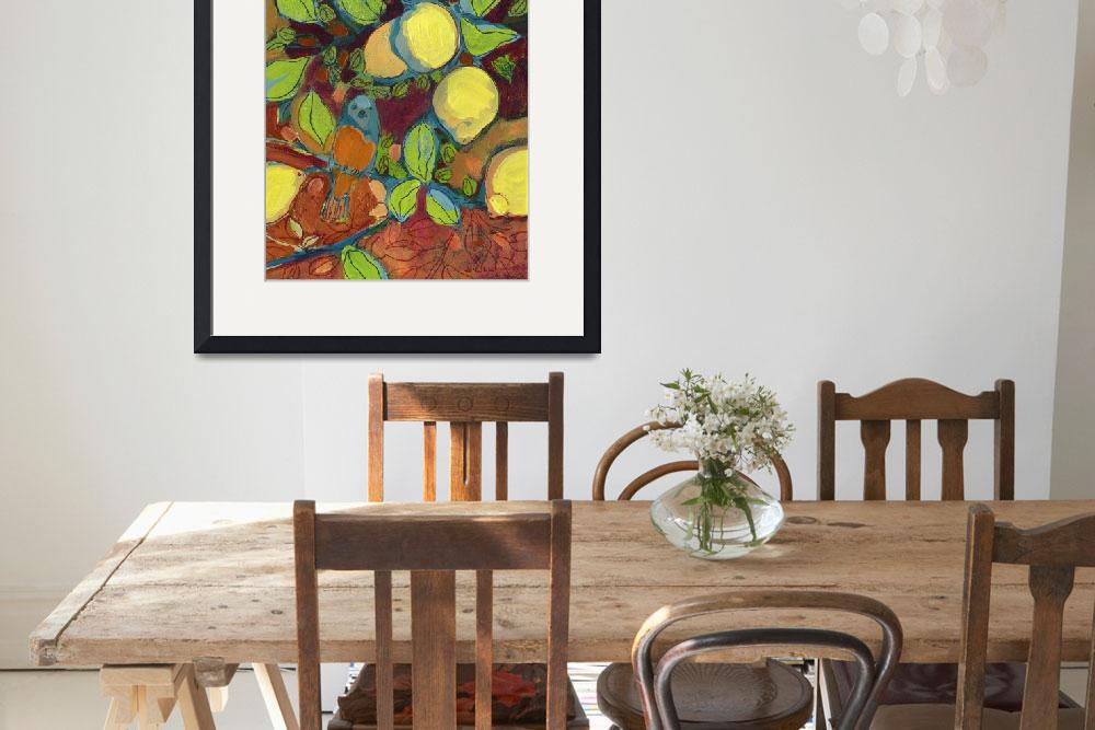 """""""A Tangerine Perched in the Lemon Tree&quot  (2008) by JENLO"""