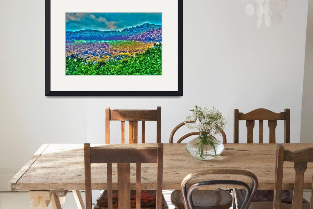 """""""apple orchards on mountain side&quot  by digidreamgrafix"""