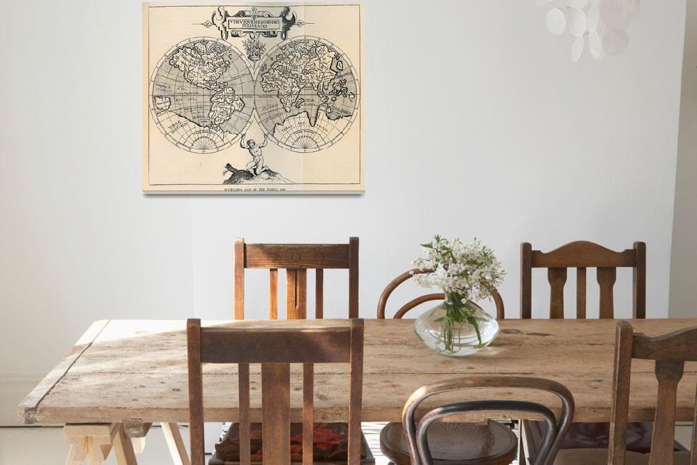 """""""Vintage Map of The World (1598)&quot  by Alleycatshirts"""