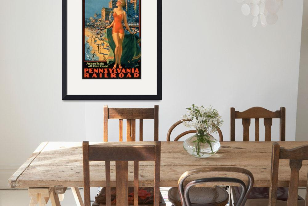 """Vintage Poster - Atlantic City&quot  by fineartmasters"