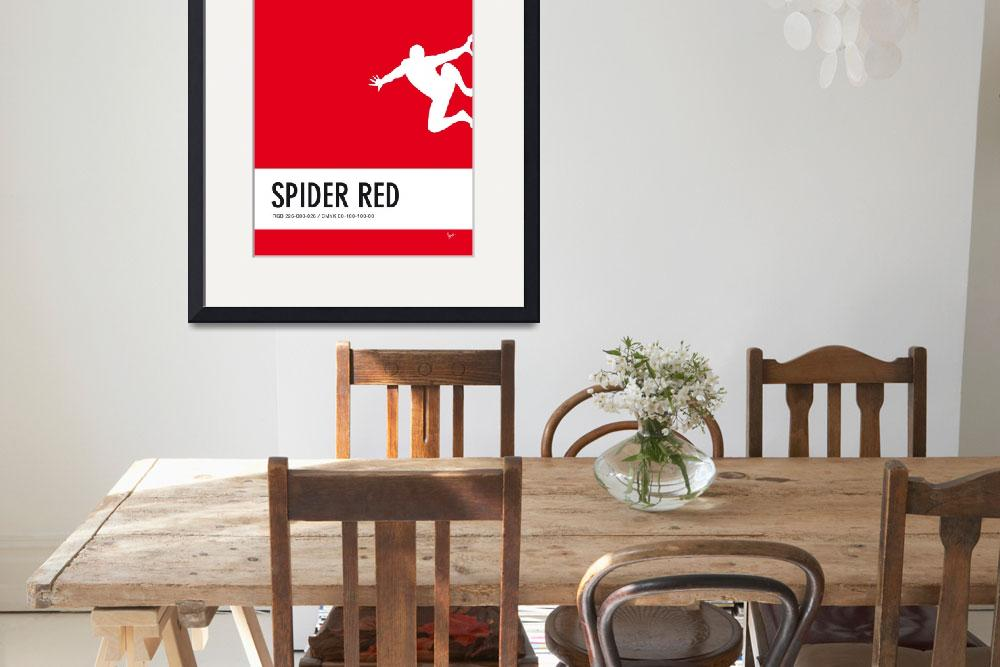 """""""No24 My Minimal Color Code poster Spiderman&quot  by Chungkong"""