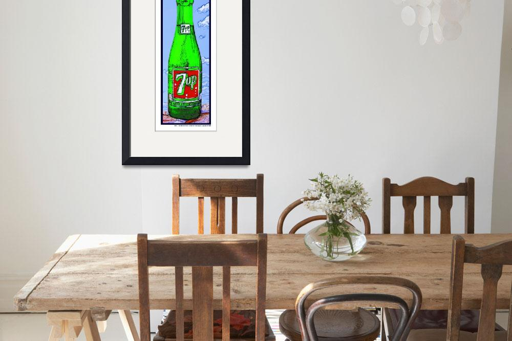 """""""7 Up Bottle in the Sky, White Border&quot  (2009) by Automotography"""