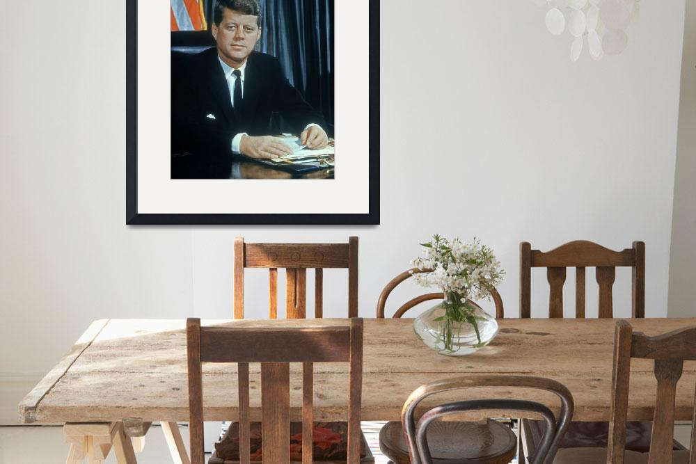"""""""John F Kennedy&quot  by RetroImagesArchive"""