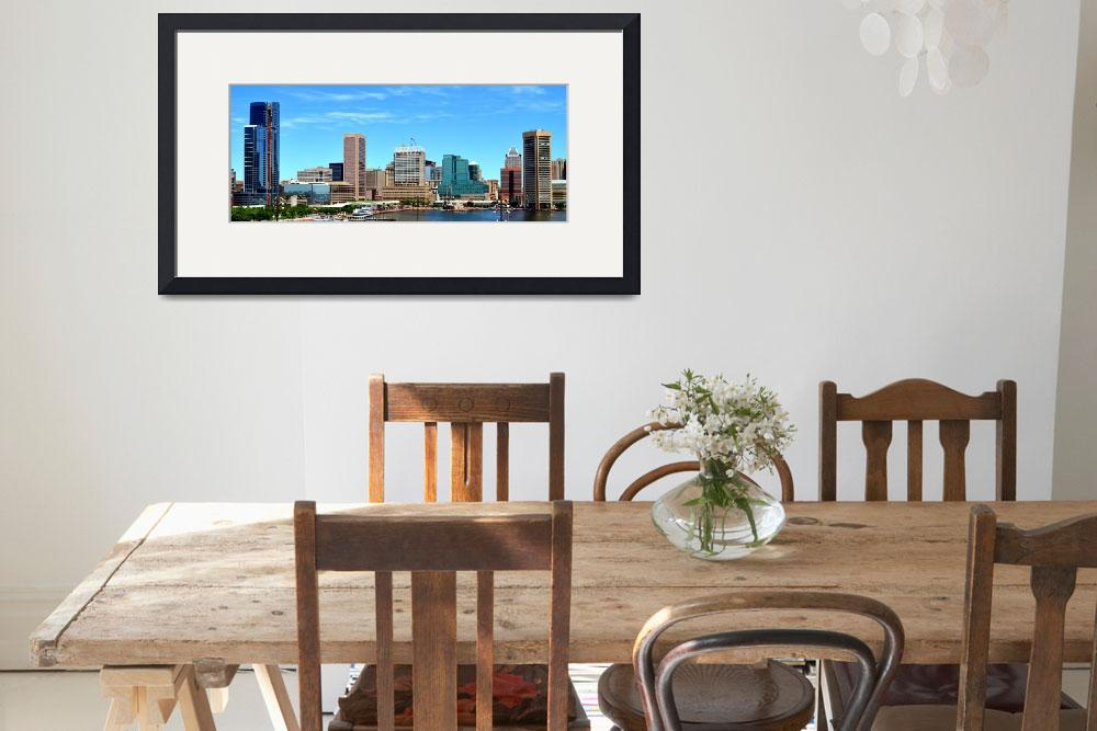 """""""Baltimore Skyline, Maryland&quot  by Artsart"""