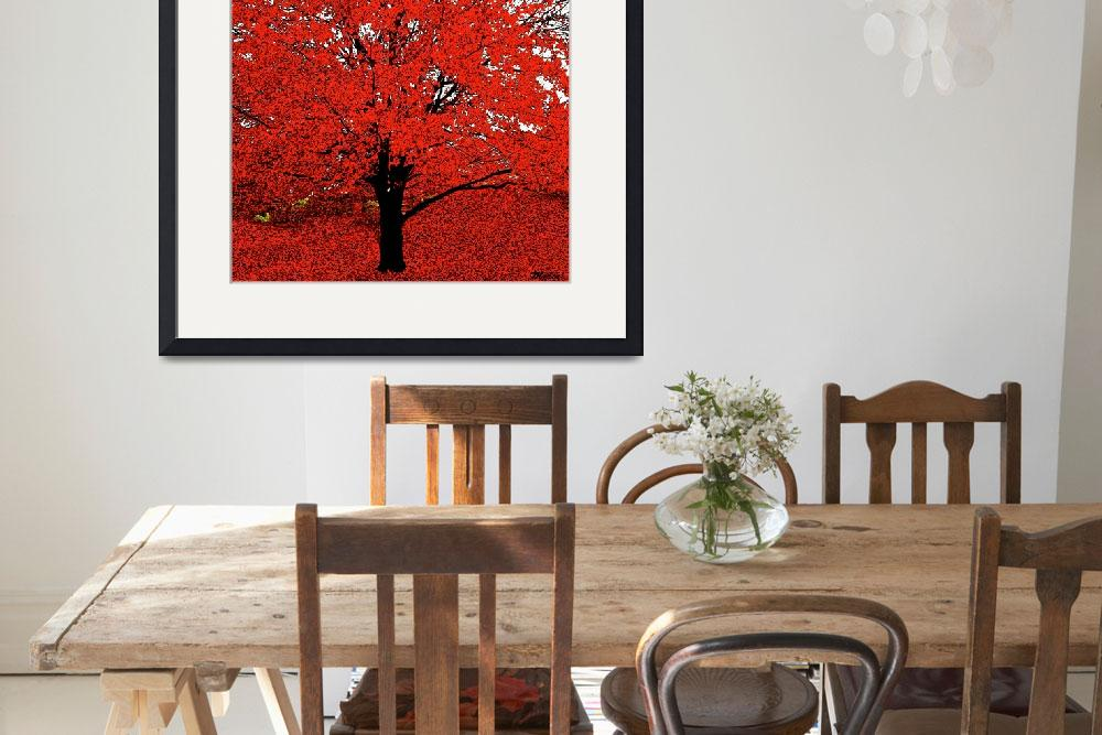 """""""The Red Tree Abstract&quot  (2015) by SaundraMyles"""