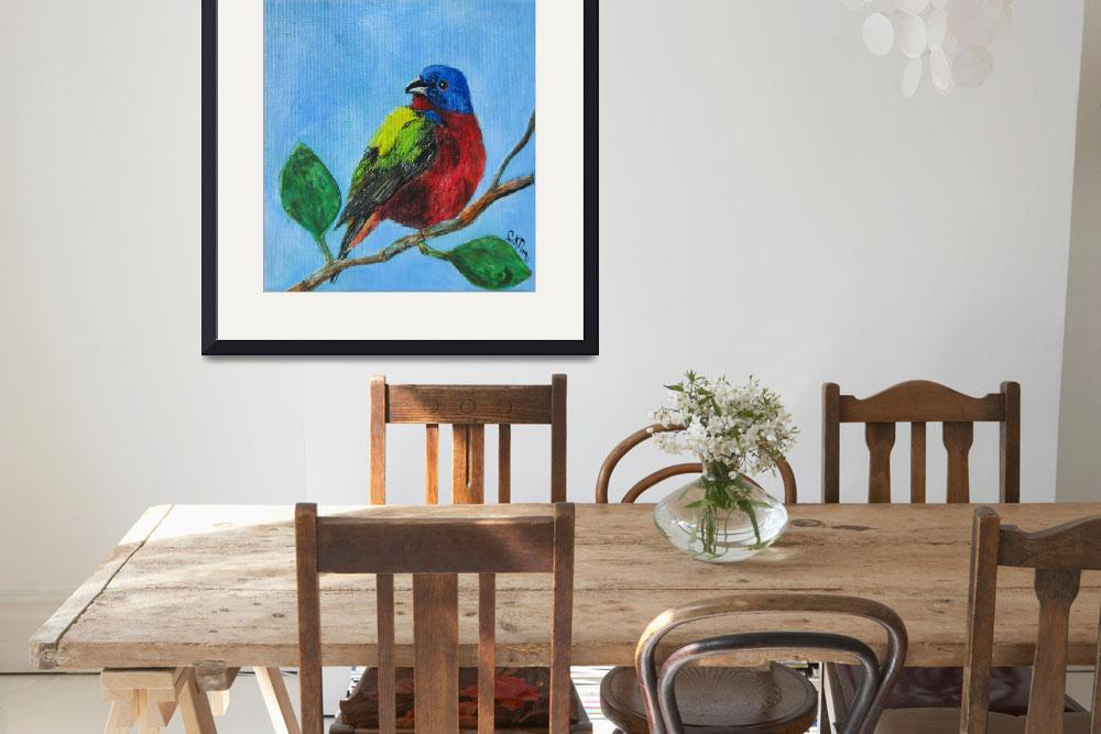"""""""Painted Bunting""""  (2011) by CeruleanBirdcage"""