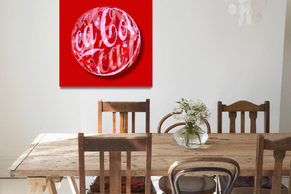 """Coca-Cola Orb""  (2013) by RubinoFineArt"