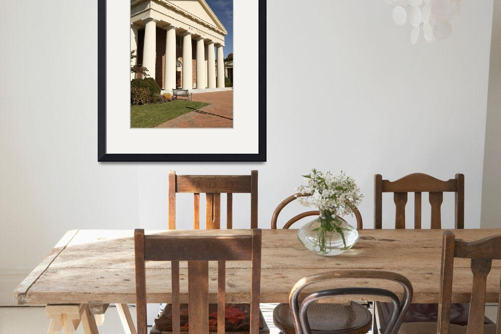 """Wait Chapel Columns, Wake Forest University&quot  by fineartphoto"