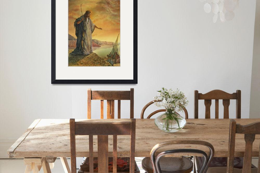 """""""Jesus by the Lake""""  by artlicensing"""