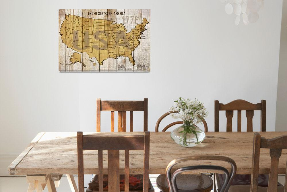 """""""ORL-2895-MAP OF USA""""  by Aneri"""