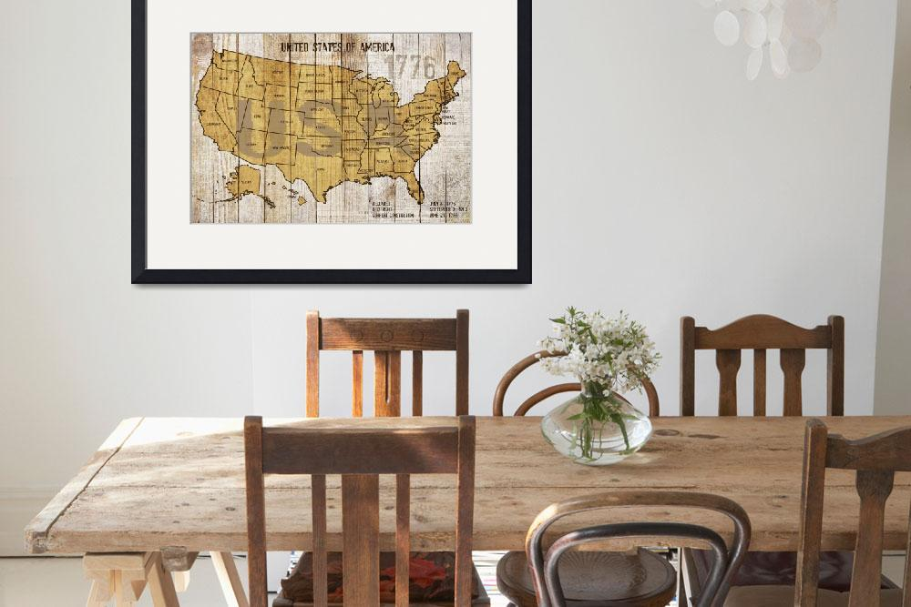 """""""ORL-2895-MAP OF USA&quot  by Aneri"""