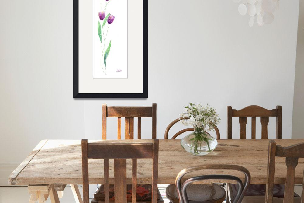 """""""Simple Purple Tulips""""  (2002) by awagner"""