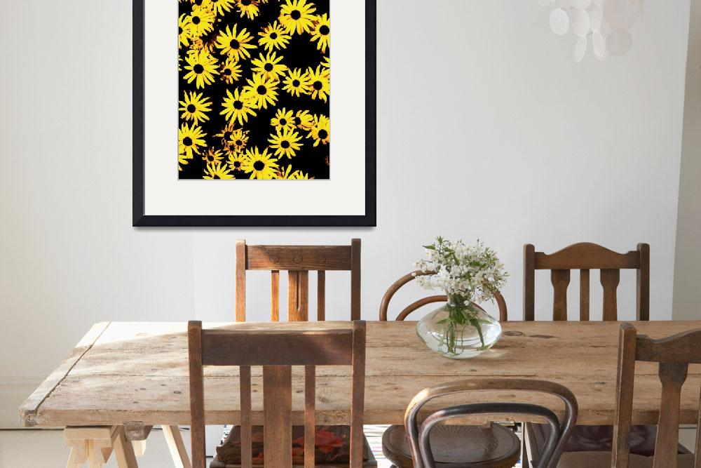 """""""Funky Yellow Flowers""""  (1994) by studiodestruct"""