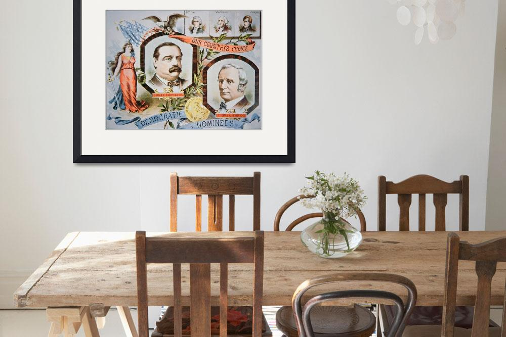 """""""Vintage Campaign Poster: Grover Cleveland&quot  by fineartmasters"""
