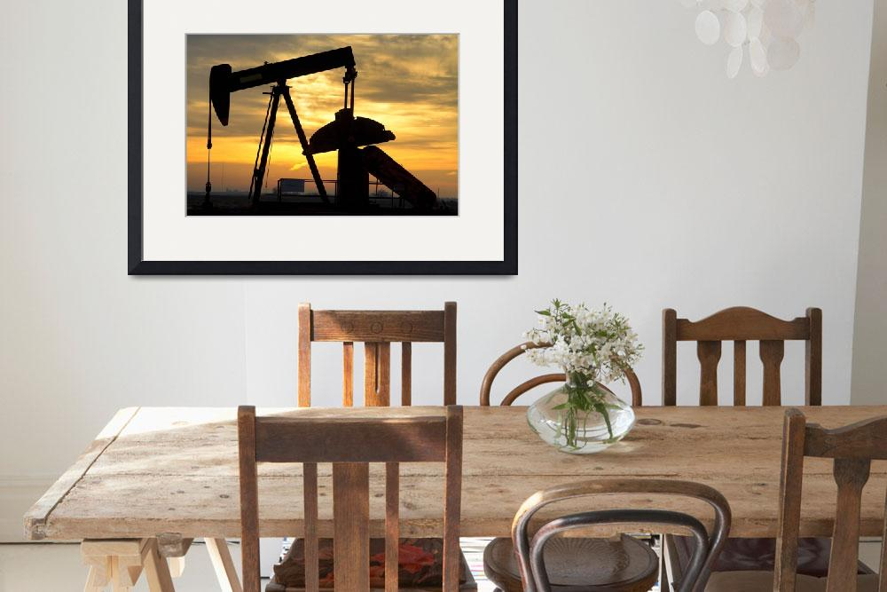 """Oil Well Pump Jack Sunrise&quot  (2013) by lightningman"