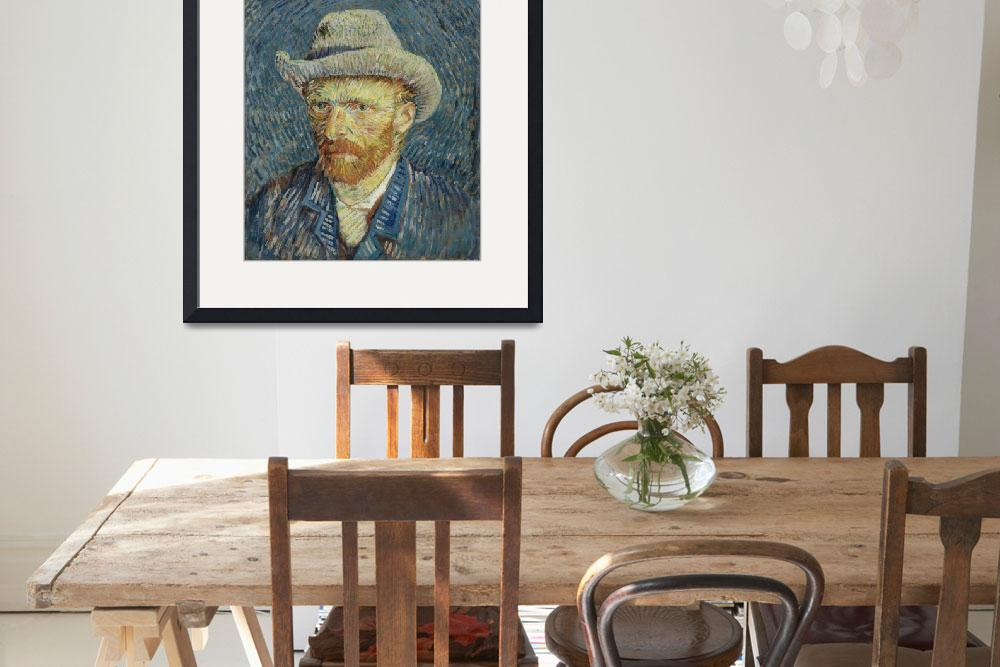 """Van Gogh, Self portrait with gray felt hat""  by Disteltje"