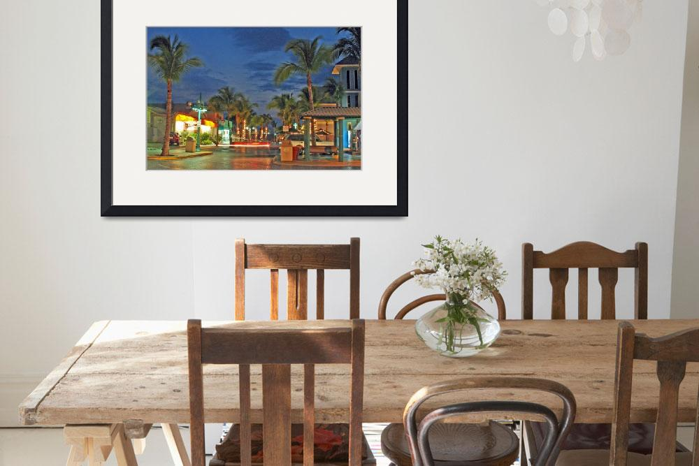 """""""Time Square, Fort Myers Beach&quot  (2006) by sbsturm"""