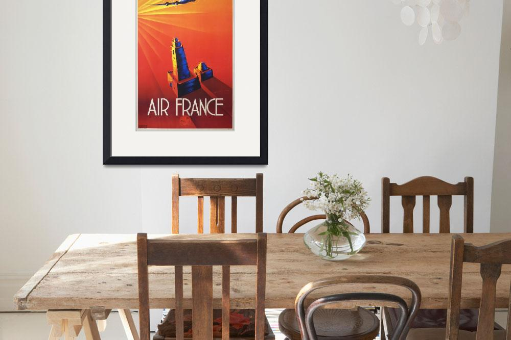"""""""Air France Vintage Poster&quot  by FineArtClassics"""