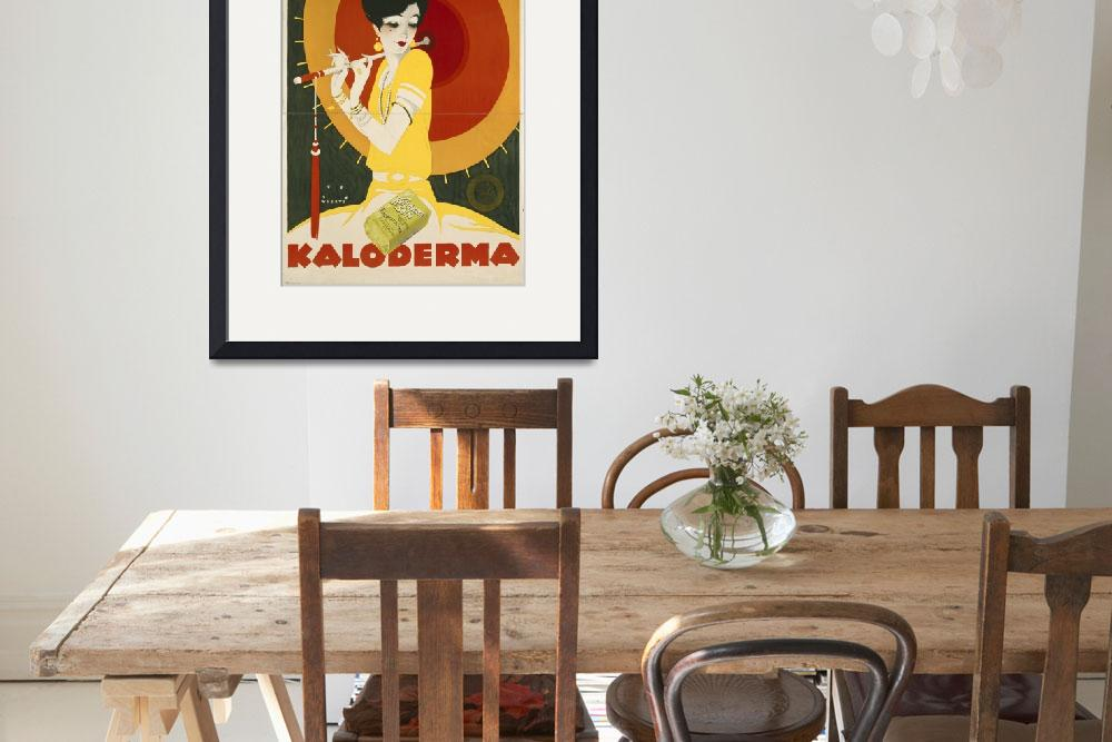 """""""Kaloderma Soap Vintage Poster Advertisement&quot  by fineartmasters"""