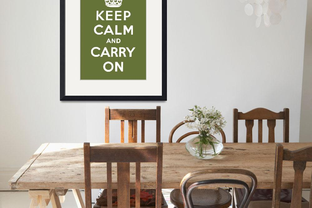 """Green Keep Calm And Carry On 5&quot  by oldies"