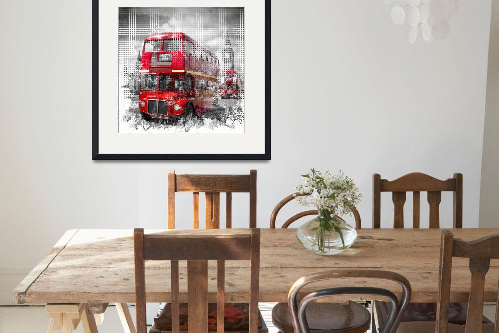 """Graphic Art LONDON WESTMINSTER Red Buses&quot  (2016) by MelanieViola"