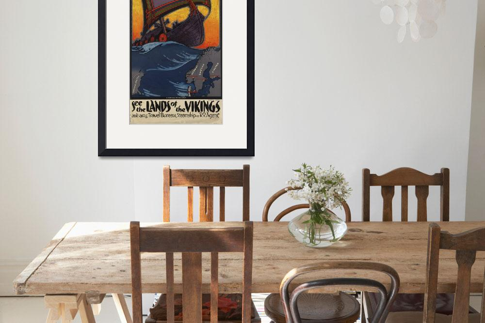 """Vintage poster - Scandanavia&quot  by mosfunky"