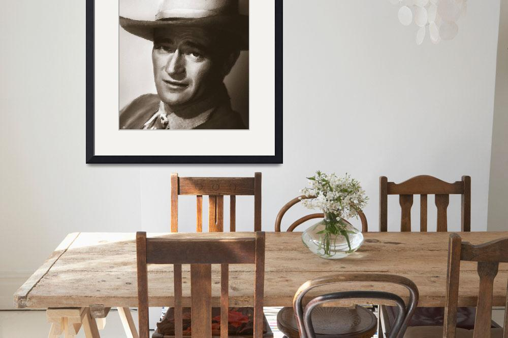 """""""Young John Wayne Painting Traditional&quot  (2015) by RubinoFineArt"""