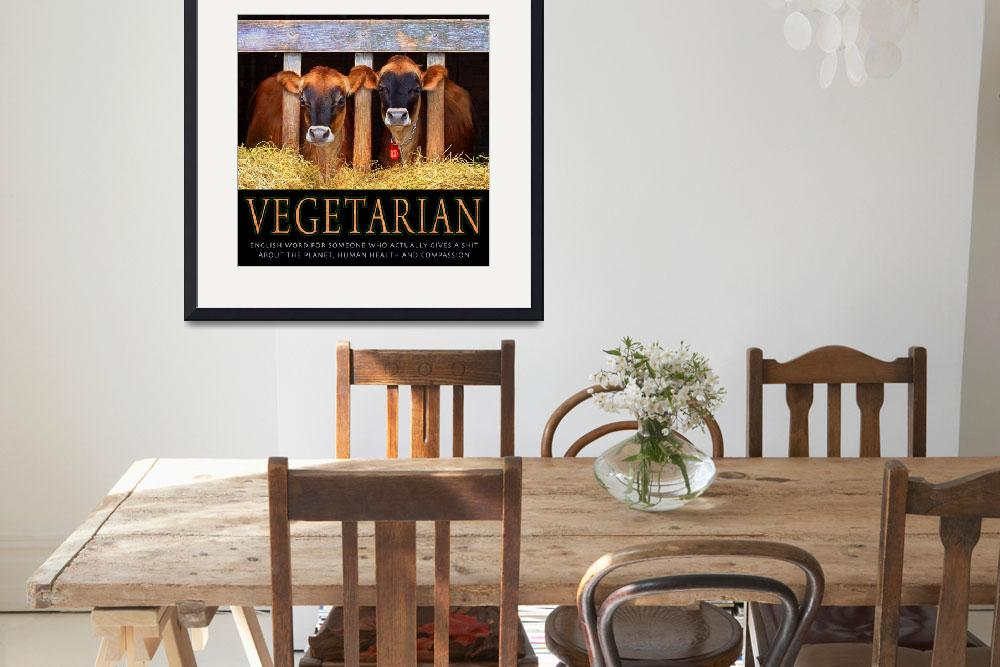 """""""VEGETARIAN&quot  (2010) by rchristophervest"""